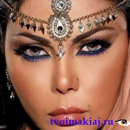арабский макияж для серых глаз