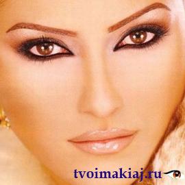 вечерний макияж для больших глаз
