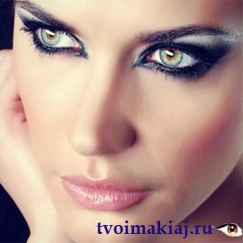 вид-дымчатого-макияжа-глаз