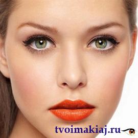 дневной макияж для узких глаз