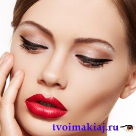 макияж глаз с опущенным веком