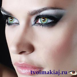 макияж-для-больших-зеленых-глаз