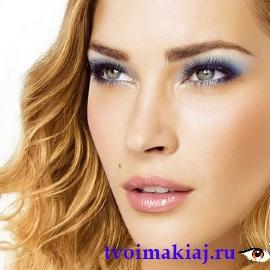 макияж для русых с голубыми глазами