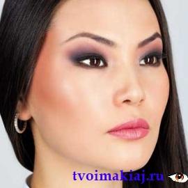 вечерний макияж для азиатского разреза глаз