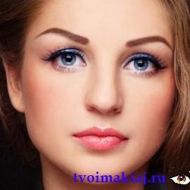 идеальный макияж для голубых глаз