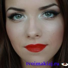 макияж глаз белым и черным карандашом