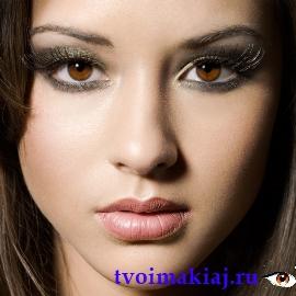 макияж глаз для шатенок