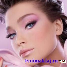 макияж глаз розовый фото