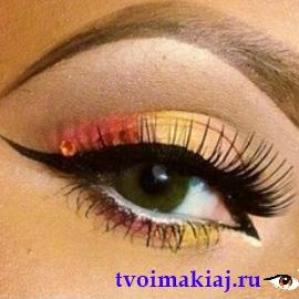 макияж для узких зеленых глаз