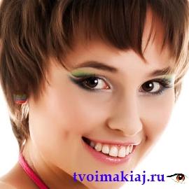 макияж для карих глаз шатенок