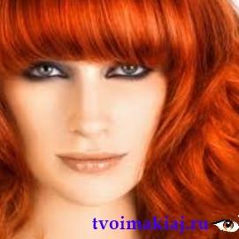 макияж для рыжих девушек с голубыми глазами