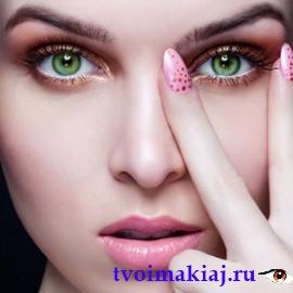 повседневный макияж для зеленых глаз фото
