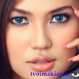 вариант макижя для голубых глаз