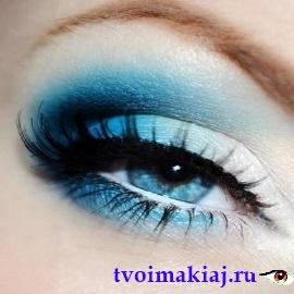 вертикальный макияж глаз