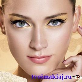 вечерний макияж для светлых глаз