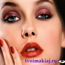 вечерний макияж глаз для брюнеток
