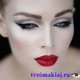 макияж глаз веер