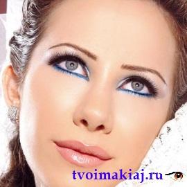 макияж для голубоглазых девушек