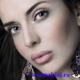 макияж для серых глаз поэтапно