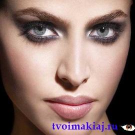 макияж для серых глаз фото