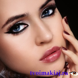 макияж кошачьи глаза
