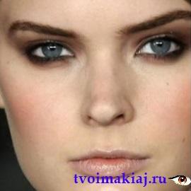 пошаговый макияж для серых глаз