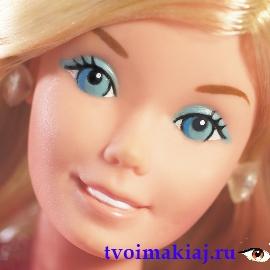 макияж глаз Барби