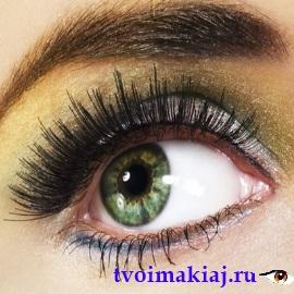 макияж для коричнево зеленых глаз