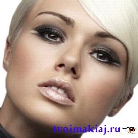 вечерний макияж в серых тонах