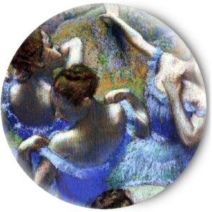 Одностороннее зеркальце Балерины в голубом