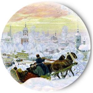 Одностороннее зеркальце Русская зима