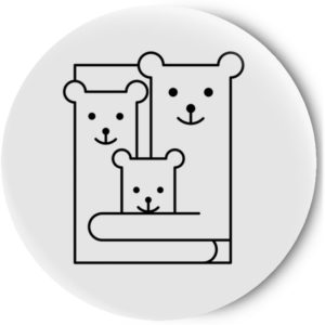 Одностороннее зеркальце Bears family