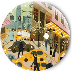 Одностороннее зеркальце City Streets