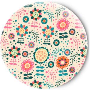 Одностороннее зеркальце Floral pattern
