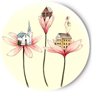 Одностороннее зеркальце Flowers&Home