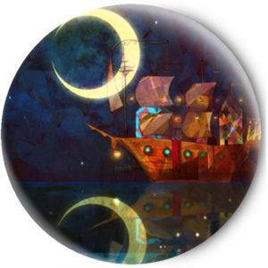 Одностороннее зеркальце Hочь в Море