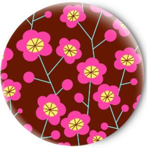 Одностороннее зеркальце Pink flowers