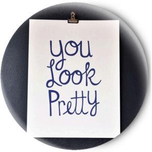Одностороннее зеркальце You Look Pretty