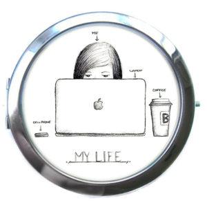 ЗЕРКАЛЬЦЕ КАРМАННОЕ «Моя жизнь»
