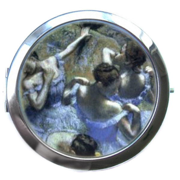 ЗЕРКАЛЬЦЕ КАРМАННОЕ «Голубые танцовщицы»